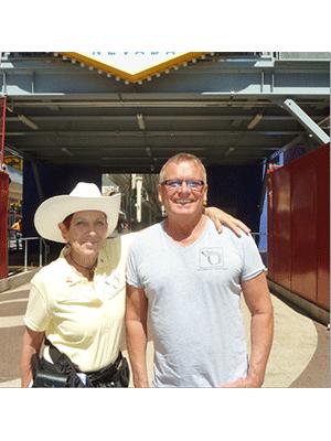 Las Vegas Pop Culture Tour Guides Babs Daitch and Richard Hooker