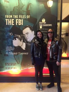 Vanessa and Ryan arrived at the Mob Museum for the launch of the 4 pm walking tour.